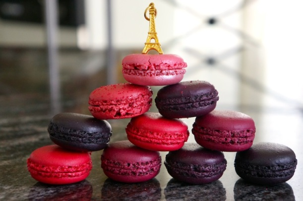 Laduree keychain and macaroons