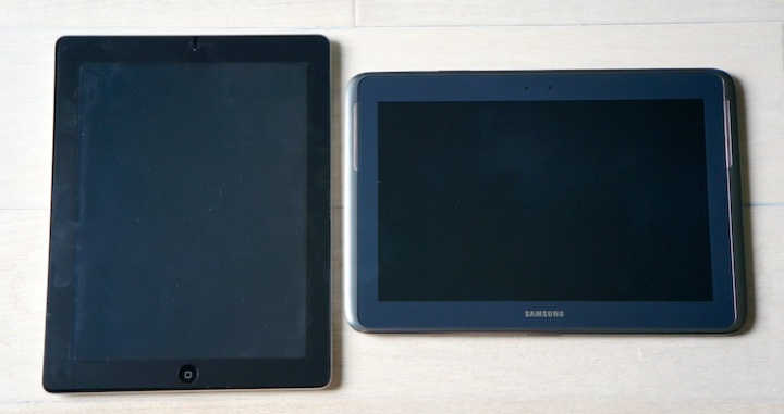 ipad and galaxy no box