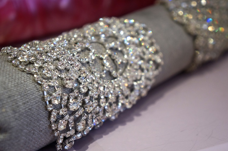 Ornate crystal wristlet by Margaret Rowe