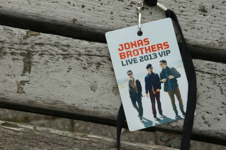 Jonas Brothers VIP Pass 2013