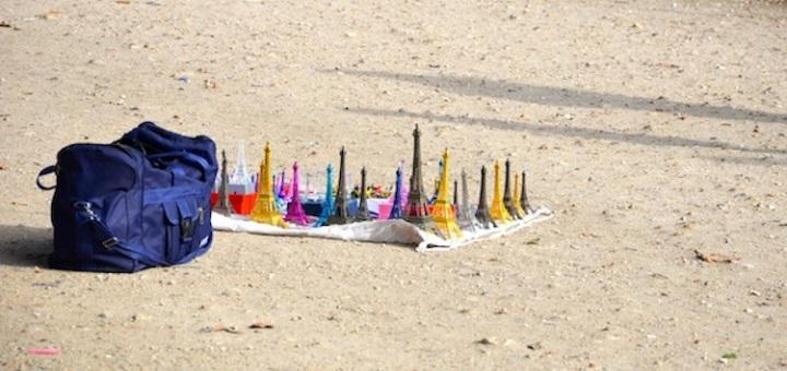 mini eiffel towers in paris france