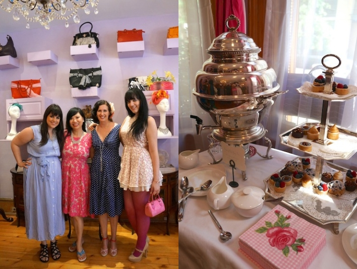 Tea party at Jeanne Lottie's Pink House