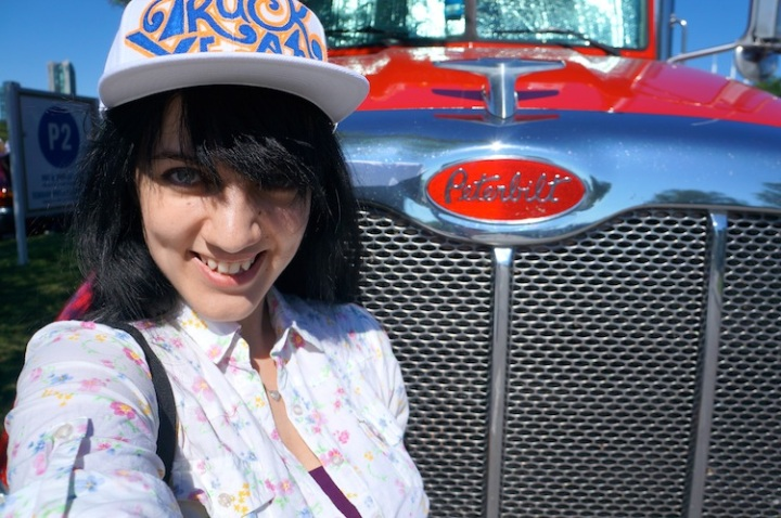sage wearing truck yeah diy hat