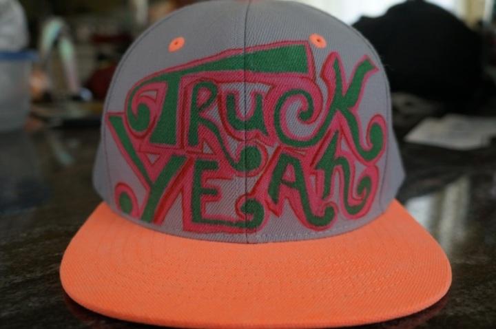 truck yeah hat grey
