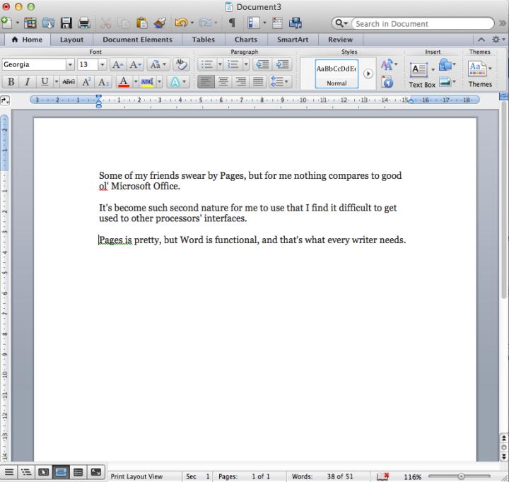 word for mac screenshot
