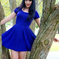Electric Blue Pleats for Fall