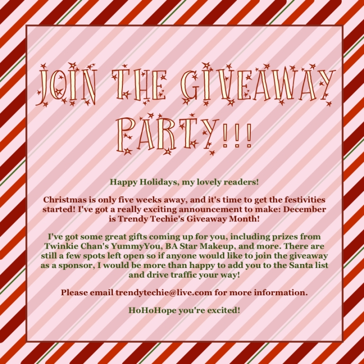 holiday christmas giveaway invite for sponsors