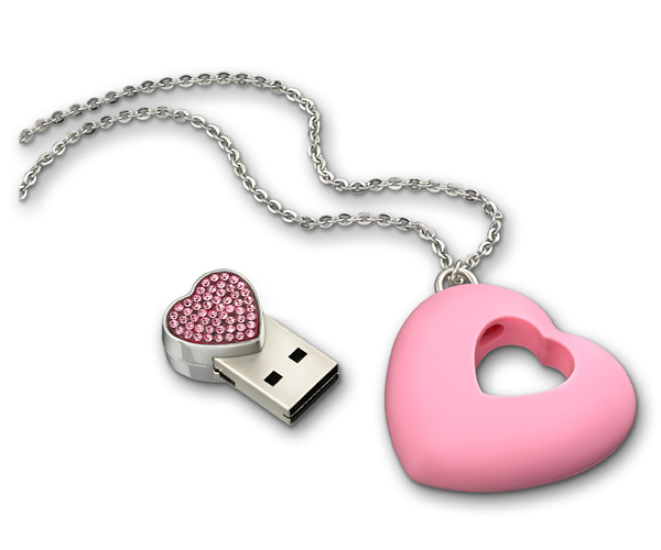 pink swarovski usb necklace 1