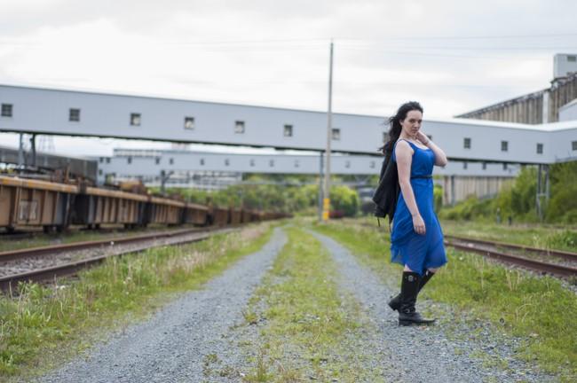 sage_trendy_techie_blue_dress_railroad_1