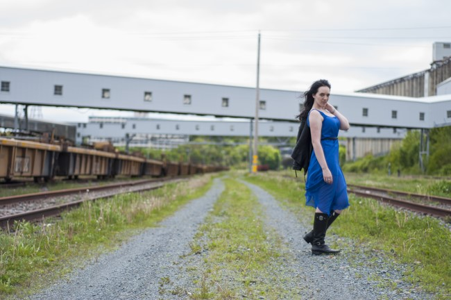 sage_trendy_techie_blue_dress_railroad_1