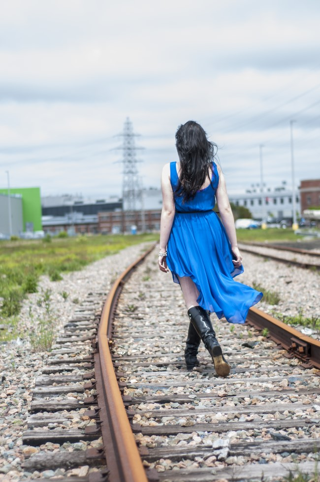 sage_trendy_techie_blue_dress_railroad_2