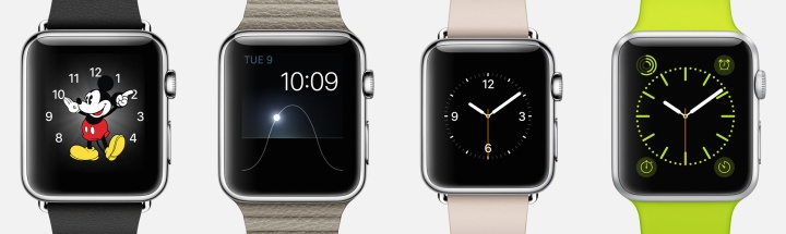 Apple Watch faces including Mickey Mouse