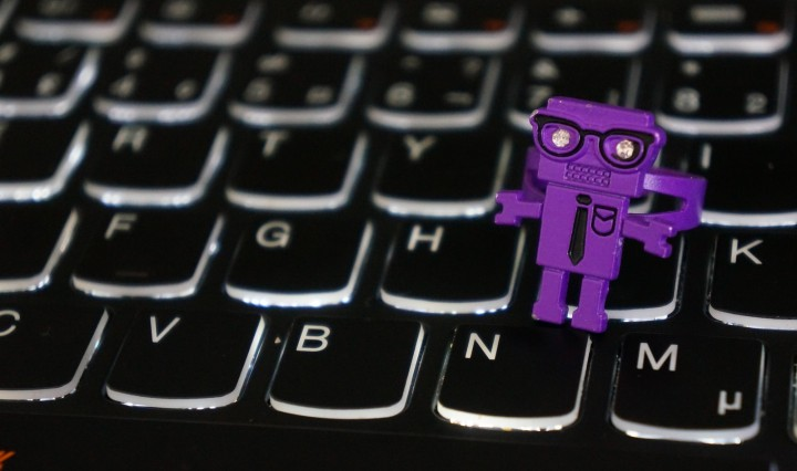 Purple robot ring