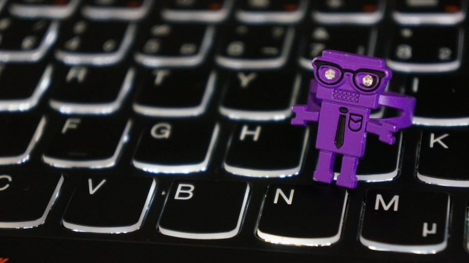 Purple robot ring