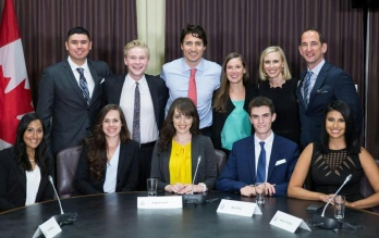 Prime Minister Trudeau and youth